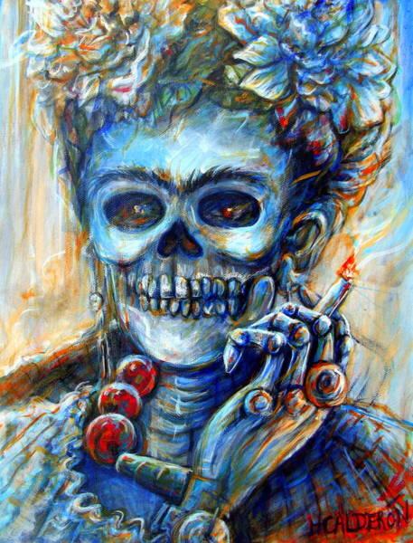 Wall Art - Painting - Mi Cigarrillo by Heather Calderon