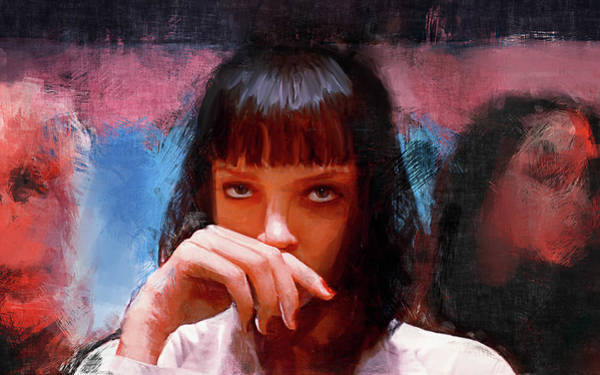 Reservoir Dogs Painting - Mia Wallace - Pulp Fiction by Joseph Oland