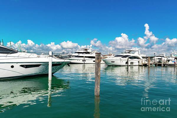 Photograph - Miami Beach Marina 131 by Carlos Diaz