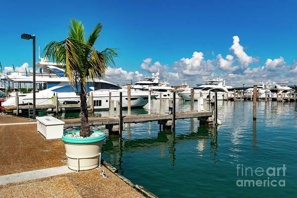 Photograph - Miami Beach Marina 6 by Carlos Diaz