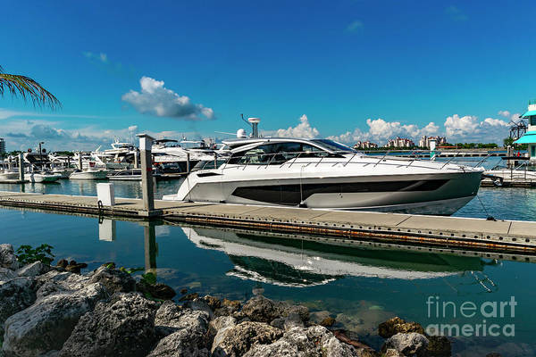 Photograph - Miami Beach Marina Luxury Yacht  Dsc001 by Carlos Diaz