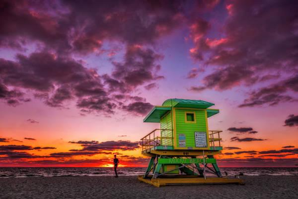 Photograph - Miami Beach Sunrise by Michael Ash