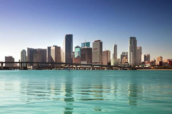 Biscayne Wall Art - Photograph - Miami Florida Daytime Skyline by Pgiam