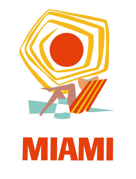 Wall Art - Digital Art - Miami by Long Shot