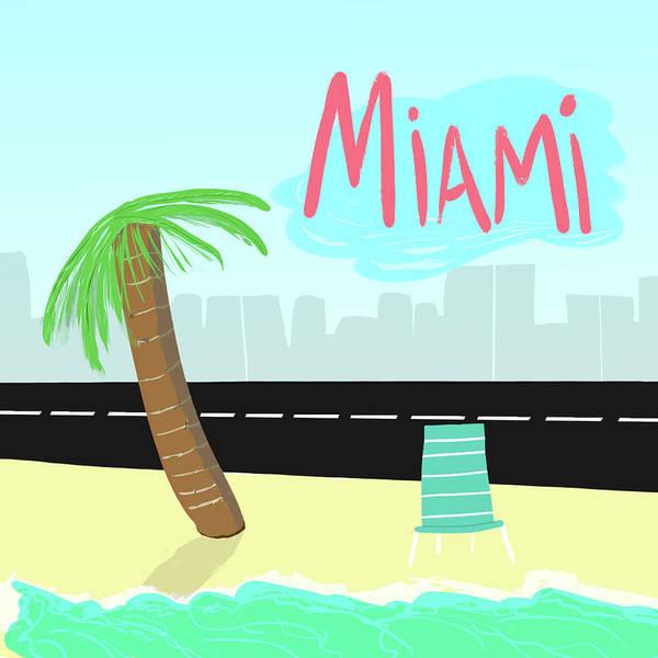 Miami-dade Digital Art - Miami by Sandu Rojas