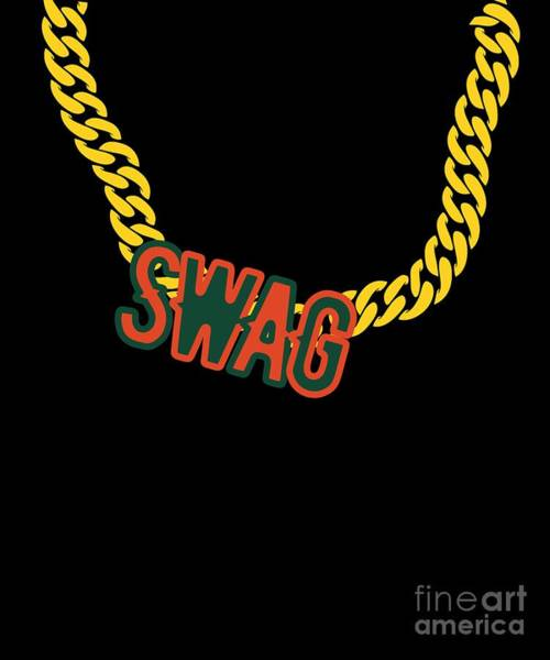 Miami-dade Digital Art - Miami Swag Gold Chain Necklace by Mike G