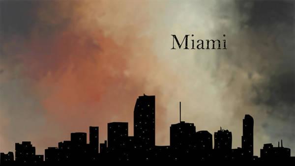 City Scape Digital Art - Miami by Tim Palmer