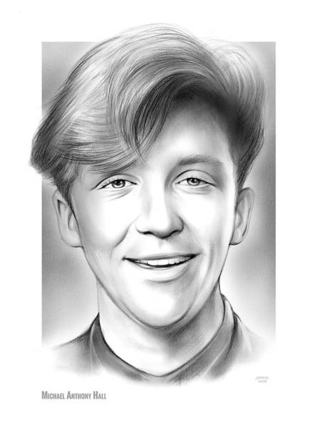 Wall Art - Drawing - Michael Anthony Hall by Greg Joens