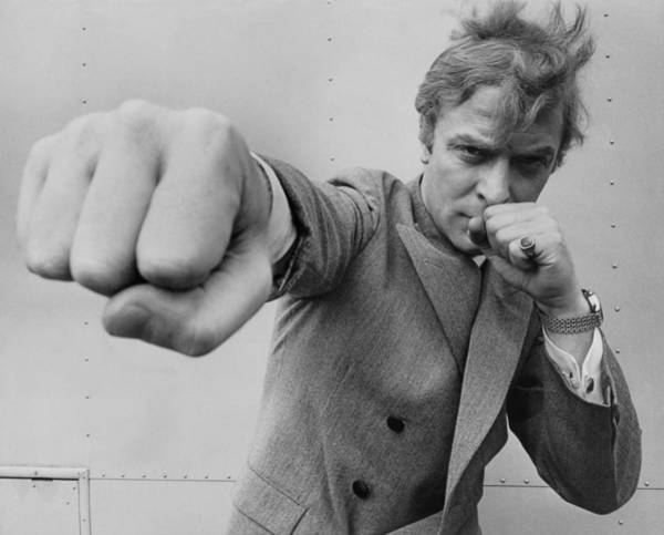 Film Industry Photograph - Michael Caine Throwing A Punch by Stephan C Archetti
