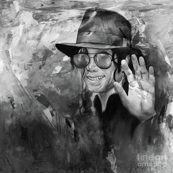Wall Art - Painting - Michael Jackson 98u by Gull G