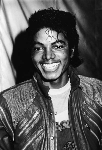 Hairstyle Photograph - Michael Jackson Attends Premiere by Pictorial Parade