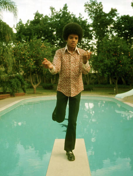 Photograph - Michael Jackson On The Diving Board by Michael Ochs Archives