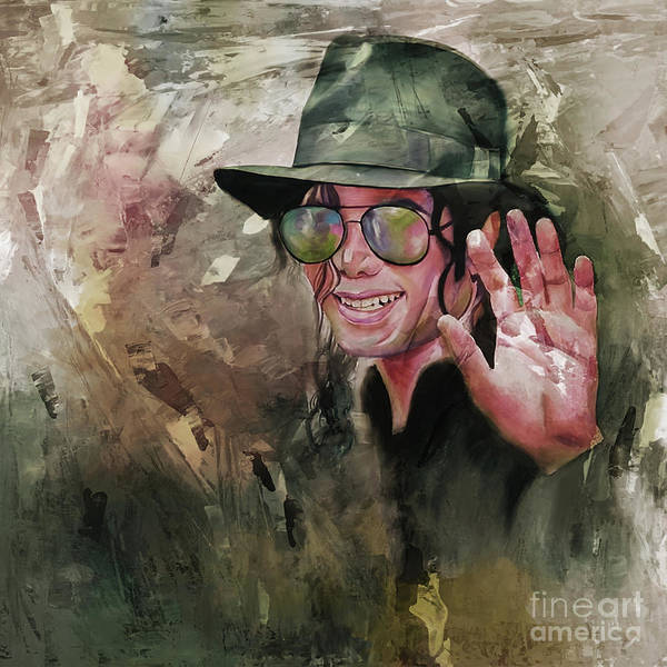 Wall Art - Painting - Michael Jackson Painting by Gull G