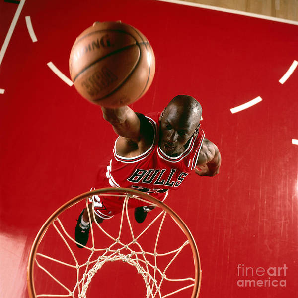 Wall Art - Photograph - Michael Jordan Slam Dunk by Nba Photos
