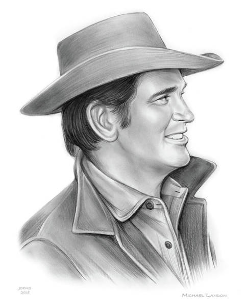 Wall Art - Drawing - Michael Landon by Greg Joens