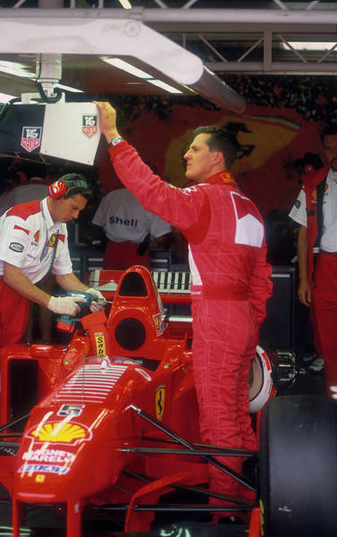 Motor Sport Photograph - Michael Schumacher With Ferrari by Heritage Images