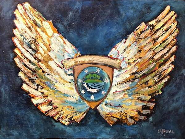 Painting - Michael's Wings by Laurie Maves ART
