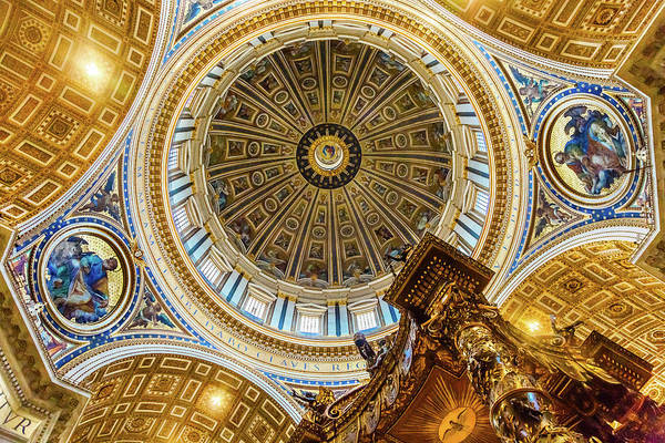 Wall Art - Photograph - Michelangelo Dome Baldacchino, Altar by William Perry