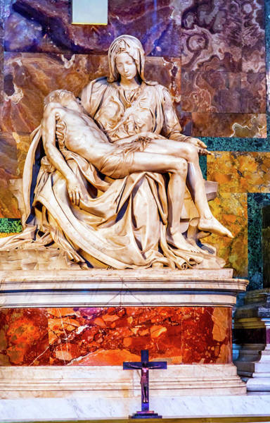 Wall Art - Photograph - Michelangelo Pieta Mary And Jesus by William Perry