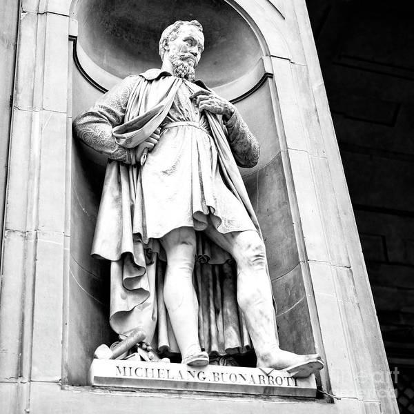 Photograph - Michelangelo Uffizi Gallery Florence by John Rizzuto
