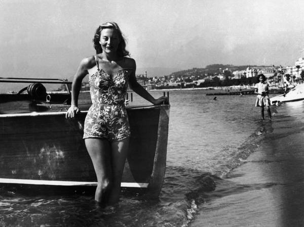 Photograph - Michele Morgan At The First Cannes Film by Serge De Sazo