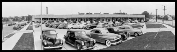 Washington Capitals Photograph - Michigan Ave Shopping Center, Michigan by Fred Schutz Collection