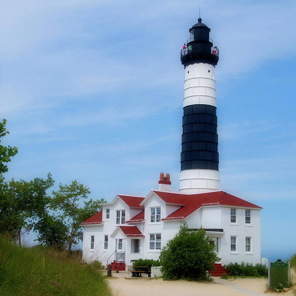 Wall Art - Photograph - Michigan Lighthouse Big Sable Point  Sq Format by Thomas Woolworth
