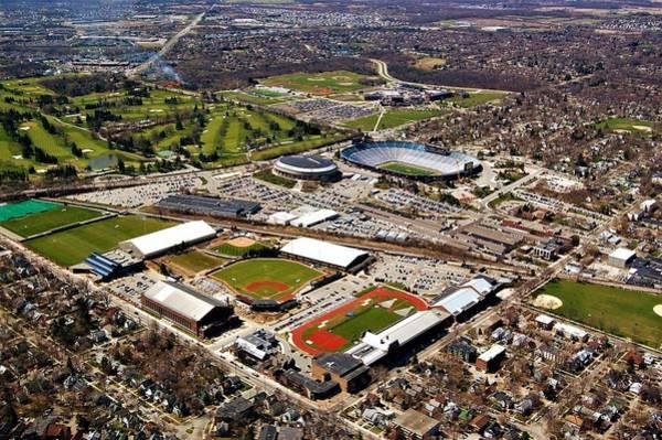 Photograph - Michigan Stadium by Tom Kelly