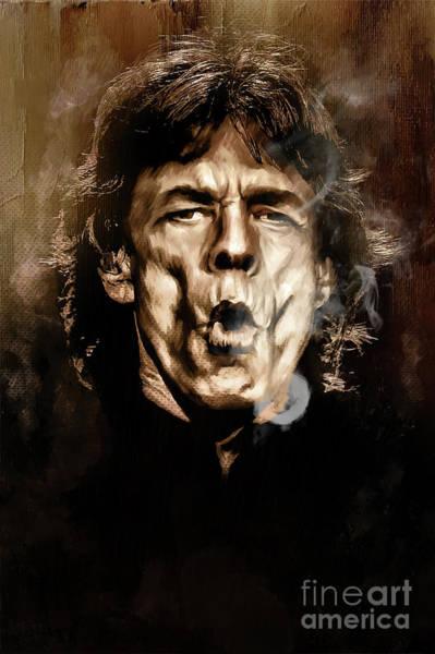 Famous People Digital Art - Mick. by Andrzej Szczerski