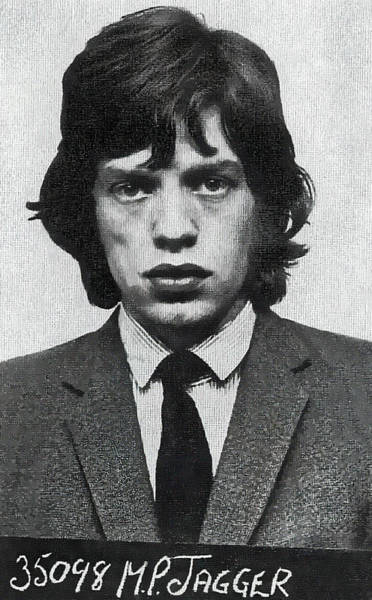 Wall Art - Digital Art - Mick Jagger Booking Photo 1967 by Daniel Hagerman