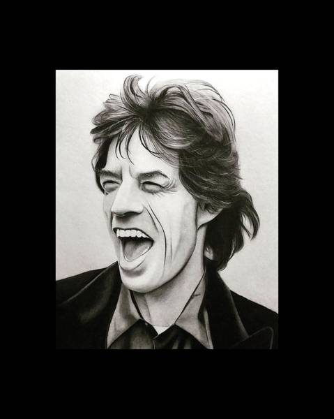 Let It Bleed Digital Art - Mick Jagger by Fostina Cahya