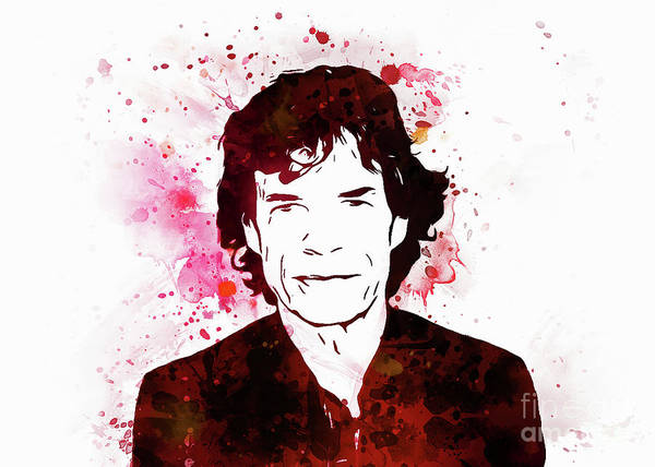 Digital Art - Mick Jagger by Ian Mitchell