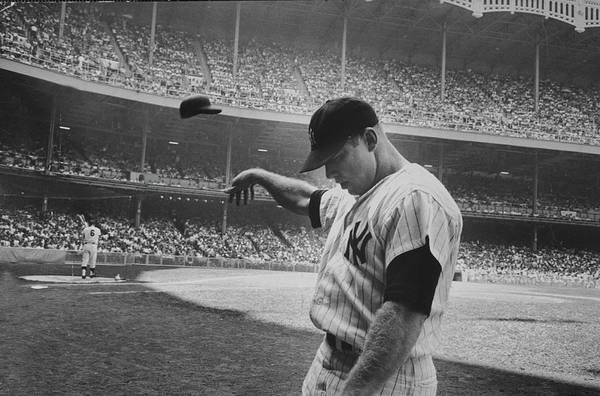 Photograph - Mickey Mantle by John Dominis