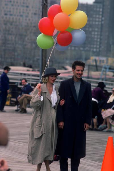 Kim Basinger Photograph - Mickey Rourke And Kim Basinger Filming by Art Zelin