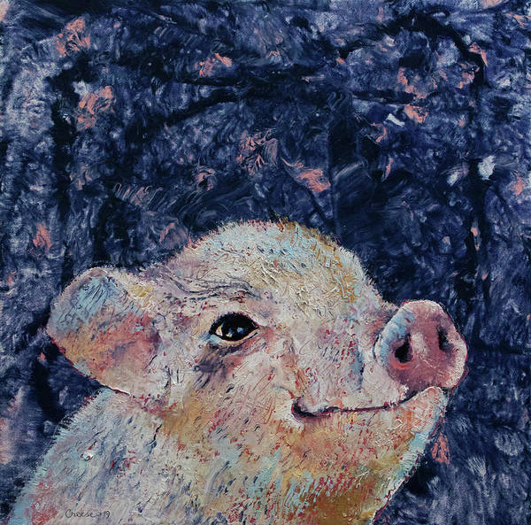 Wall Art - Painting - Micro Pig by Michael Creese