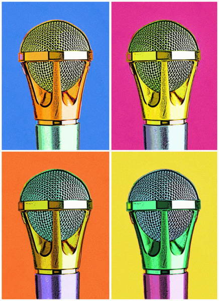 Wall Art - Photograph - Microphones, Close-up Montage, Digital by David Oliver