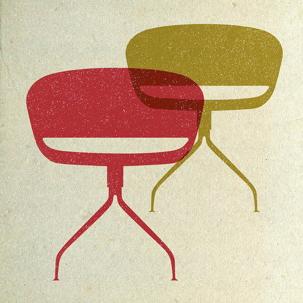 Wall Art - Digital Art - Mid Century Chairs I by Naxart Studio