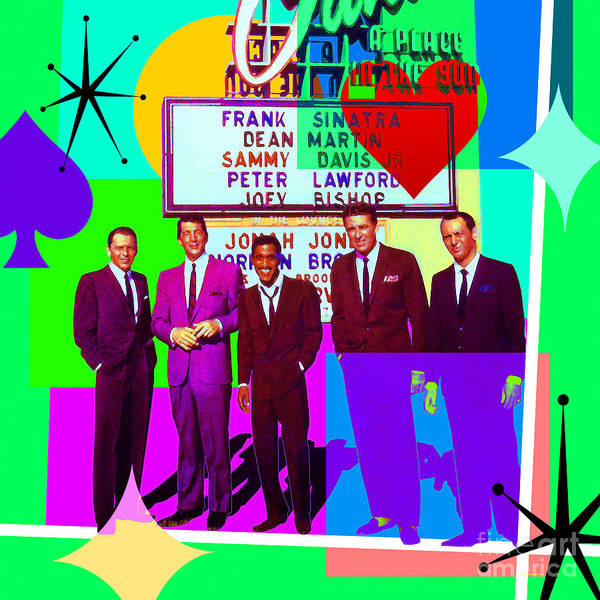 Digital Art - Mid Century Modern Abstract The Rat Pack Frank Sinatra Dean Martin Sammy Davis Jr 20190120 Sq P112 by Wingsdomain Art and Photography
