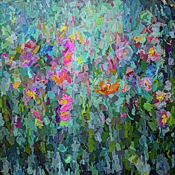 Photograph - Mid July Meadow Flowers - #2 Painting  by OLena Art - Lena Owens