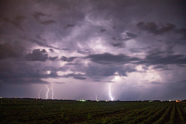 Photograph - Mid July Nebraska Lightning 003 by Dale Kaminski