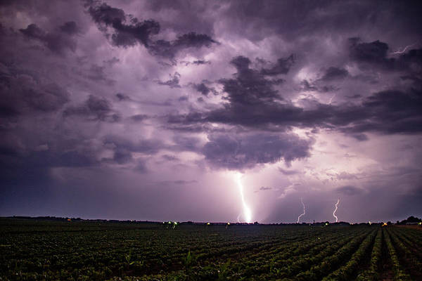 Photograph - Mid July Nebraska Lightning 004 by Dale Kaminski