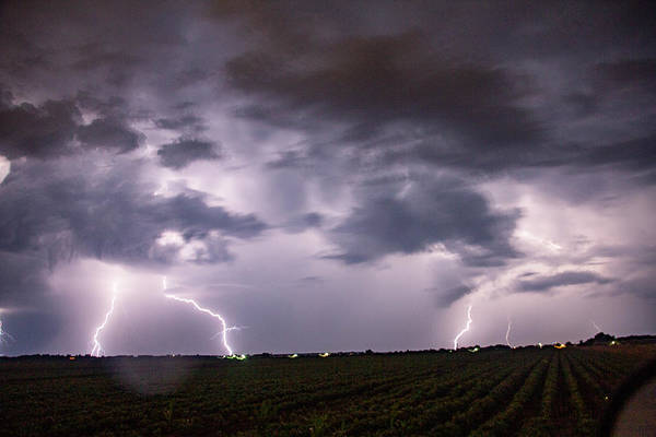 Photograph - Mid July Nebraska Lightning 007 by Dale Kaminski