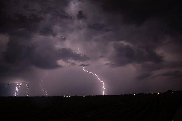 Photograph - Mid July Nebraska Lightning 008 by Dale Kaminski