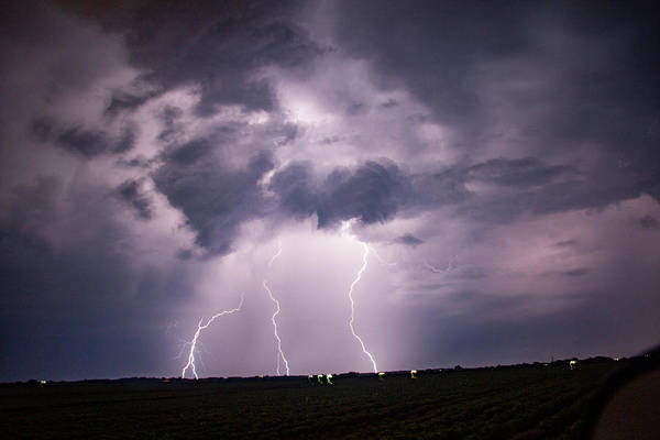 Photograph - Mid July Nebraska Lightning 009 by Dale Kaminski