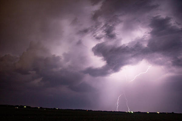 Photograph - Mid July Nebraska Lightning 010 by Dale Kaminski