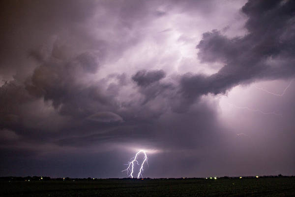 Photograph - Mid July Nebraska Lightning 011 by Dale Kaminski