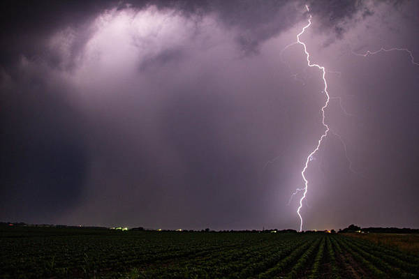 Photograph - Mid July Nebraska Lightning 018 by Dale Kaminski