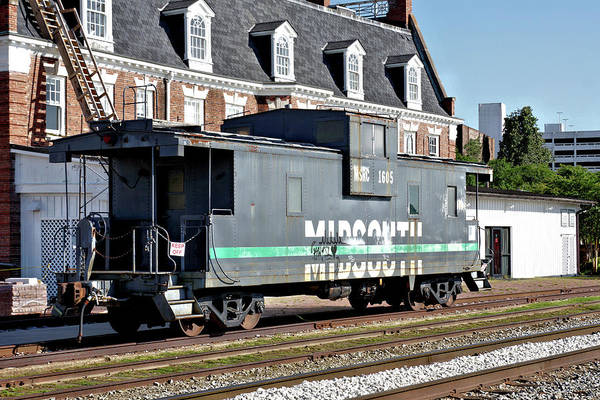 Wall Art - Photograph - Mid South Railroad Caboose 2 by John Trommer