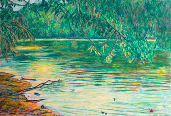 Painting - Mid-spring On The New River by Kendall Kessler
