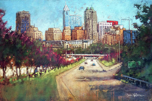 Wall Art - Painting - Mid-summer Skyline by Dan Nelson